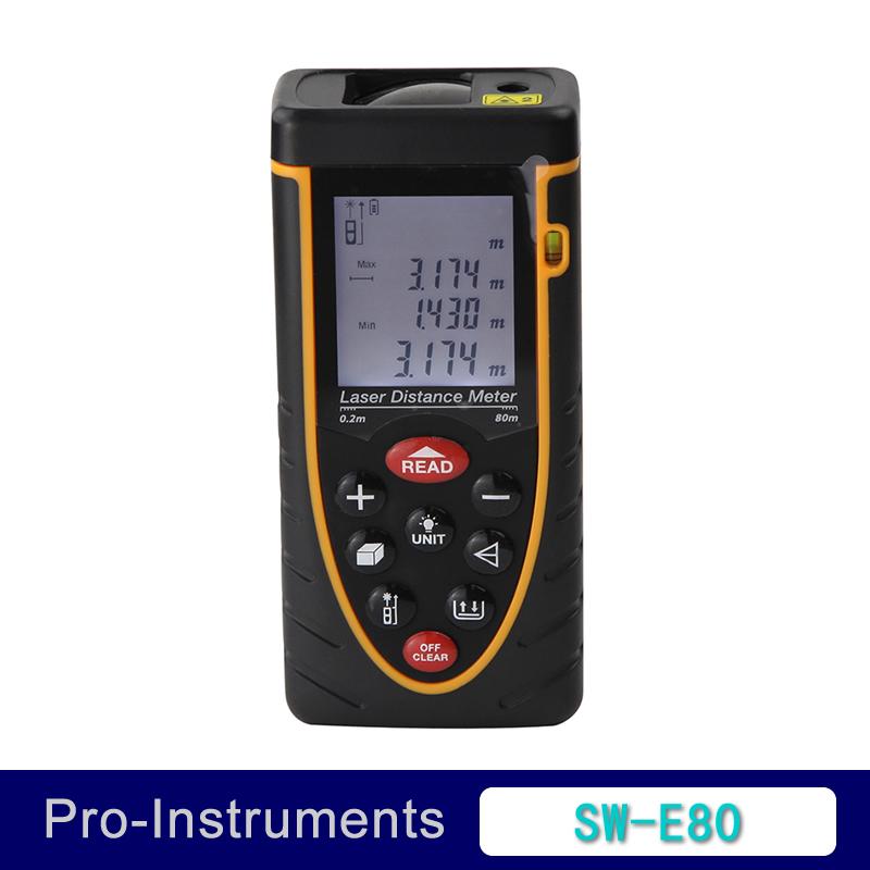 80m 196ft Mini Digital Laser Distance Meter Range Finder Length width Height Area Volume Measure Diastimeter SNDWAY SW-E80 SWE80<br><br>Aliexpress