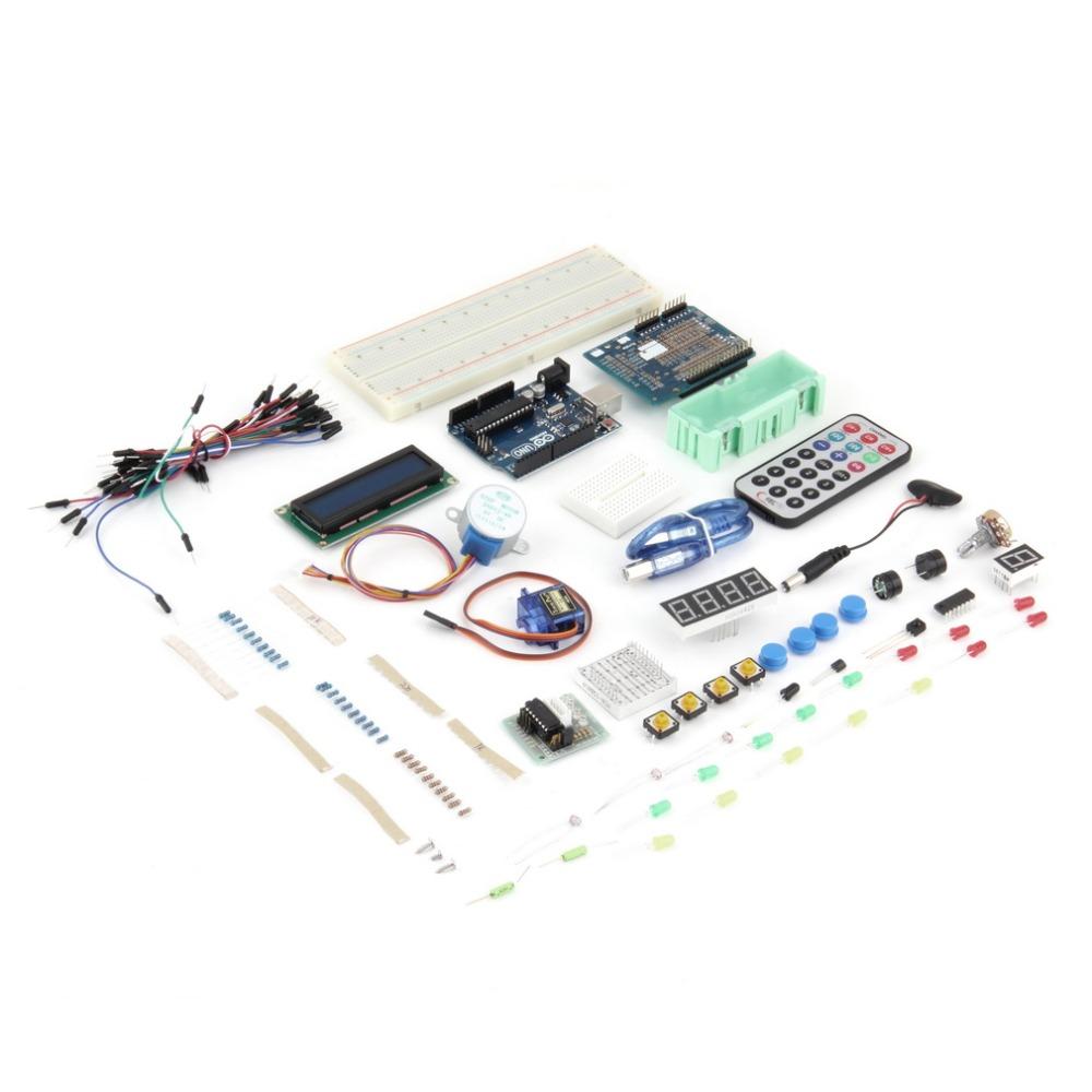 uduino uno r3 starter advanced kit breadboard sensor motor jumper wires arduino Newest Drop Shipping