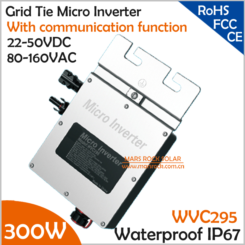 New design!!!300W grid tie micro inverter with communication function, 22-50V DC to AC 80-160V MPPT inverter for 24V/36V system(China (Mainland))