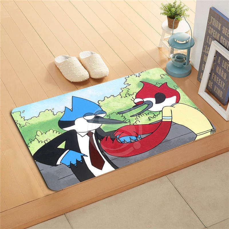 W530L12 Custom regular adventure show time Watercolor Painting Doormat Home Decor Door mat Floor Mat Bath Mats foot pad #F12(China (Mainland))