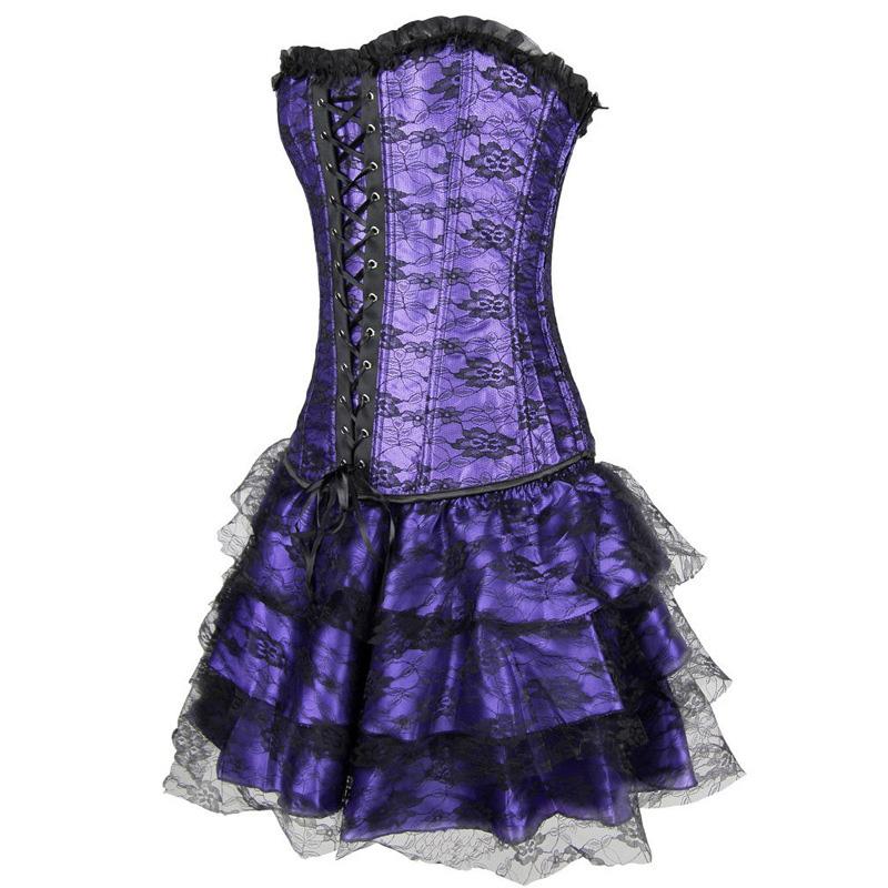 Plus sizecourt lace-up underbust corset women sexy lingerie top corsets bodice corsage busiter Wedding dress shaper Strapless(China (Mainland))
