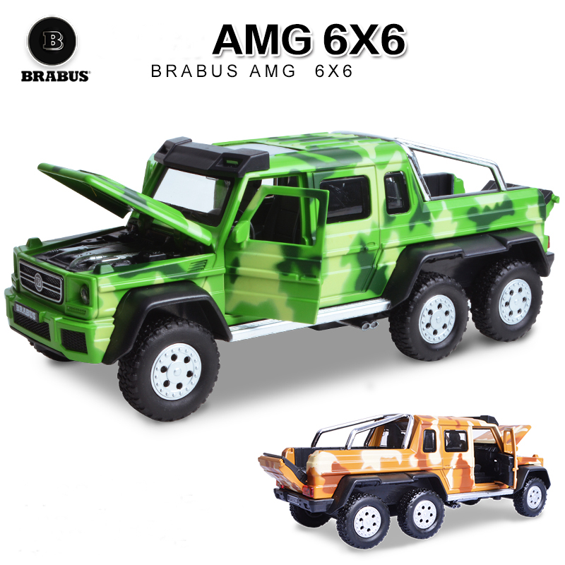 Free shipping Children alloy toy car model Mercedes BRABUS AMG 6 x6 boomerang alloy models boy gifts(China (Mainland))