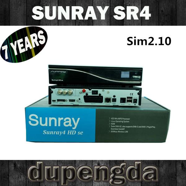 Sim210 Sunray4 800se Triple Tuner dvb-s2/c/t DHL free shipping(China (Mainland))