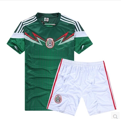Free shipping Mexico away red/blue high quality soccer jersey, Mexico soccer, Embroidery logo set.(China (Mainland))