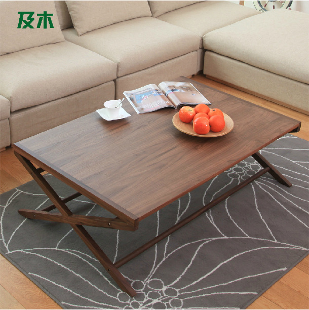 Creative Table Fashion Simple Living Room Furniture Solid Wood Tea Table In Outdoor Tables