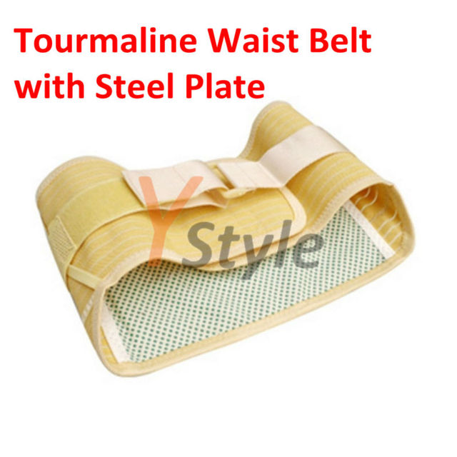 Free Shipping Tourmaline Waist Belt with 4PCS Steel Plate to Protect & Heal Waist Pains and Sore Thin Waist Belt for Summer