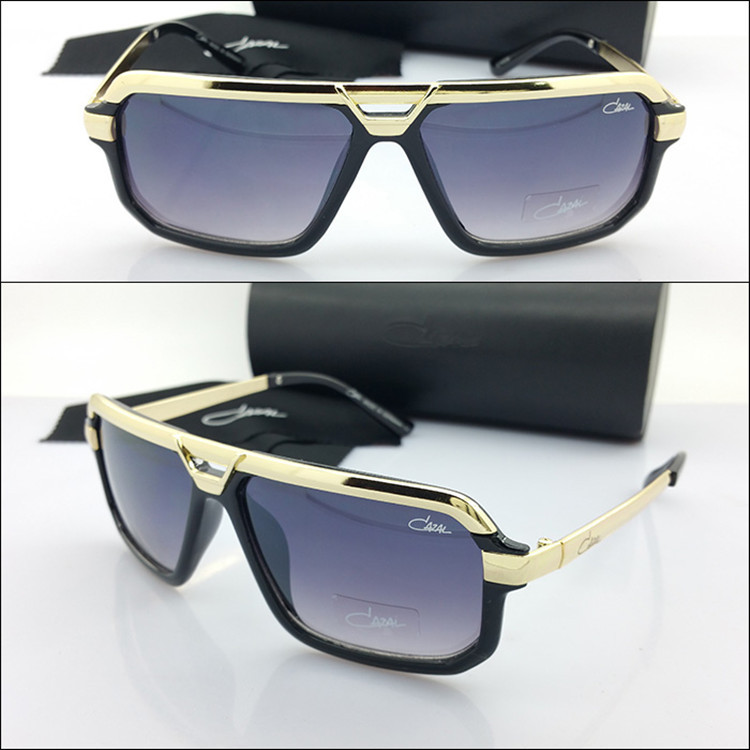 Europe New Famous Caza L Brand Designer Luxury Retro Men Goggles Clear Grey Brown Lens Black Sunglasses Oversize CZ 4028 Logo(China (Mainland))