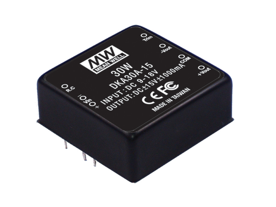 [PowerNex] MEAN WELL original DKA30A-12 12V 1250mA meanwell DKA30 12V 30W DC-DC Regulated Dual Output Converter(Taiwan)