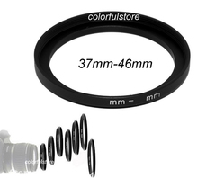 High Quality!   37mm to 46mm 37mm-46mm 37-46 mm 37 46 Metal Step-Up Step Up Ring Camera Lens Lenses Filter Stepping Adapter F003