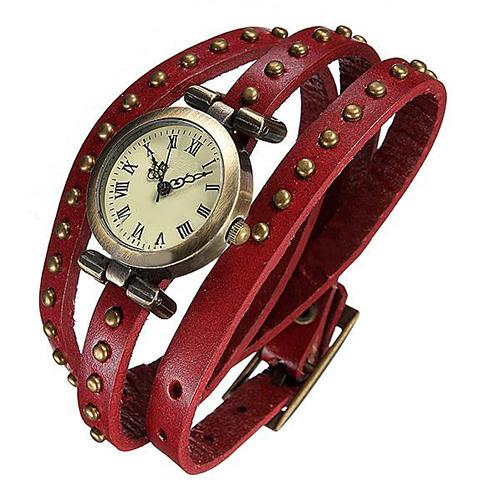 Гаджет  Vintage Genuine Cow leather Quartz Bracelet women