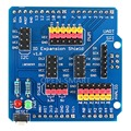 Sensor Shield IO Shield IO Board Base Shield Sensor Expansion Board Compatible with Arduino UNO Leonardo