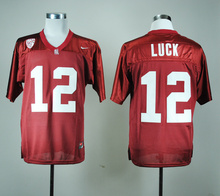 Nike Stanford Top quality NEWEST Christian high-quality McCaffrey #12 Andrew Luck #7 Andrew Luck for mens(China (Mainland))
