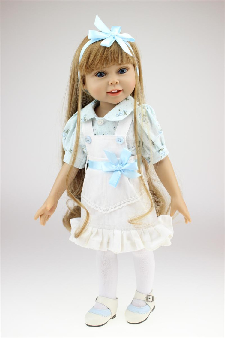 NPK 18 inch vinyl  American Girl Dolls baby reborn Hobbies Baby Alive Doll For Girls Toys boneca reborn