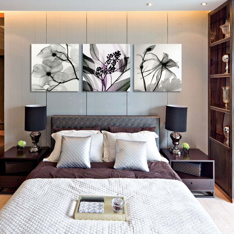 Bedroom Dining Room Decorated Orchid Canvas Prints 3 Piece Oil Paintings Sets