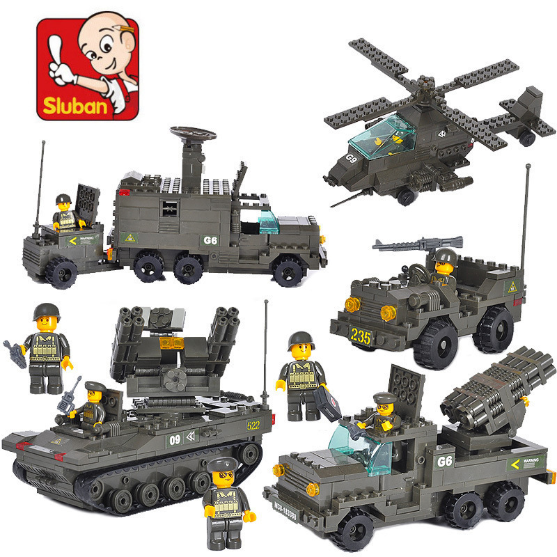 Sluban Military Army Air Defense Artillery Regiment Building Blocks set Bricks Construction Toys For Children Gift<br><br>Aliexpress