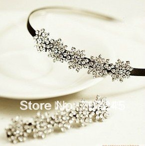 Free ship!8pc!Invincible nice full Rhinestone snowflake shape hair bands / Hair ornament / headwear
