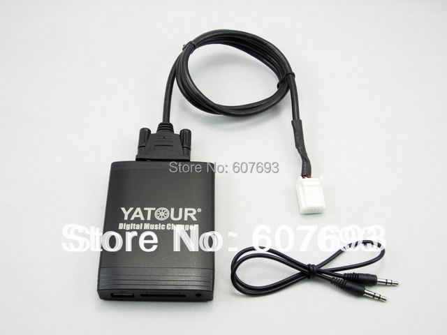 Yatour USB Car Stereo Adapter fit Toyota lexus 2003-2013 MP3 AUX  interface CD player Small 6+6 plug
