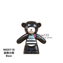 Urso Mini Aminal Series Modelo de Ação de super-heróis Blocos de Construção Compatíveis Com Brinquedos Para Crianças Amigos(China)