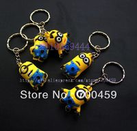 Wholesale -  Lots of 20pcs 3D Despicable Me Creative  Key chain Straps & +Individually wrapped+Free Shipping