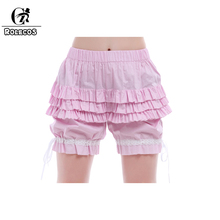 2016 New Style Elastic High Waist Pink Short Loosen Casual Princess Floral Hem Shorts