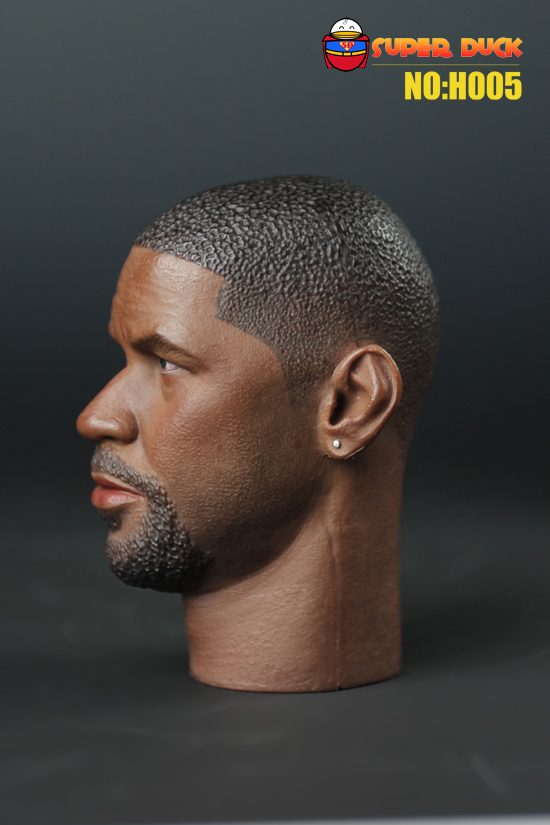 "SUPER DUCK 1/6 H005 the book of Eli Denzel Washington Head sculpt for 12"" collectible action figure in stock free shipping(China (Mainland))"