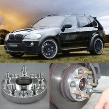 4pcs New Billet 5 Lug 14*1.5 Studs Wheel Spacers Adapters For BMW X5 E53 2000-2006(China (Mainland))