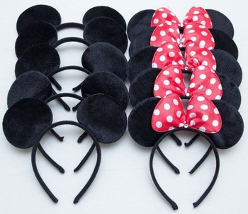 Mouse headband Children birthday party supplies Mouse Ears Baby Hair Accessories Girl Headwear party decoration baby shower