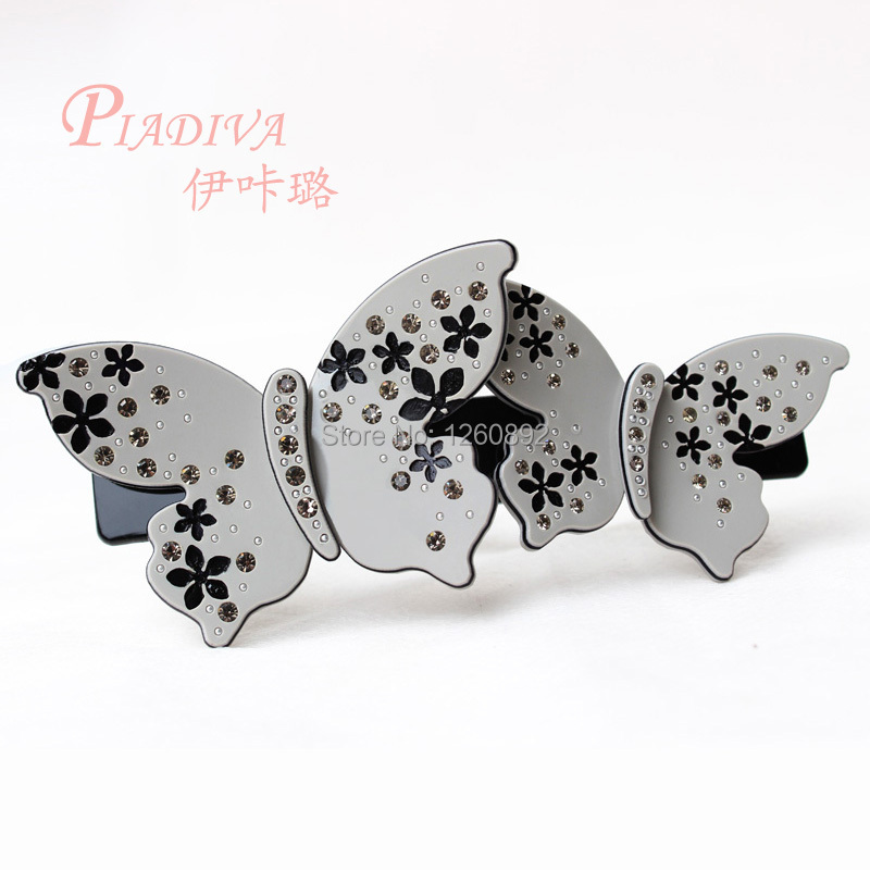 Hot Selling Butterfly Hair Ornaments with Crystals Hair Clips for Female best gifts(China (Mainland))