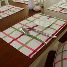 Stripe Pattern mat Kitchen accessorie Europe style placemat dinner plates home decor dustproof coaster LRLT057