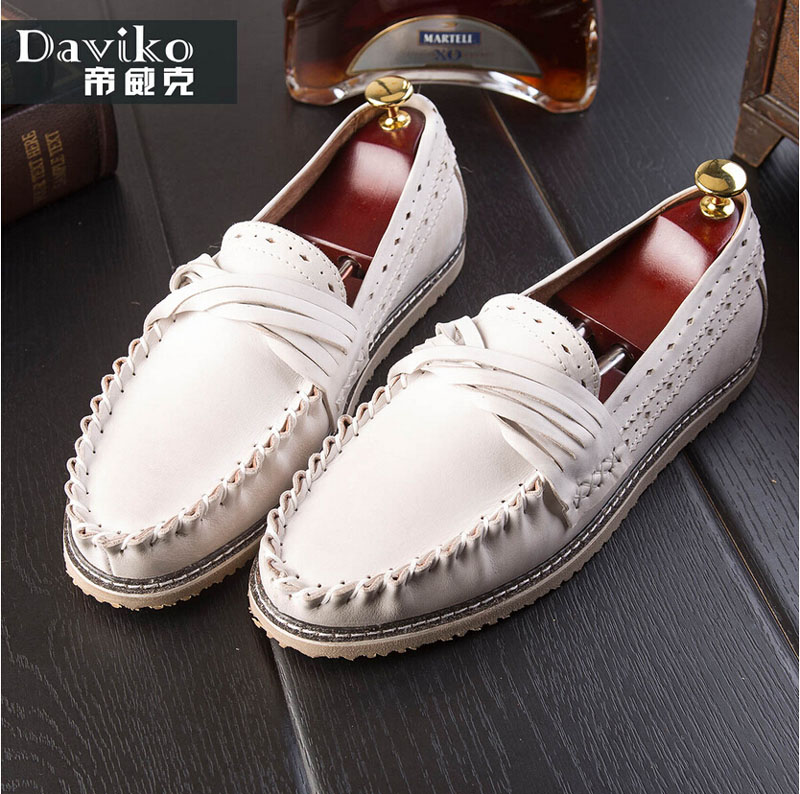 Daviko summer vintage sailing shoes male genuine leather Moccasins male trend wrapping casual leather male shoes(China (Mainland))
