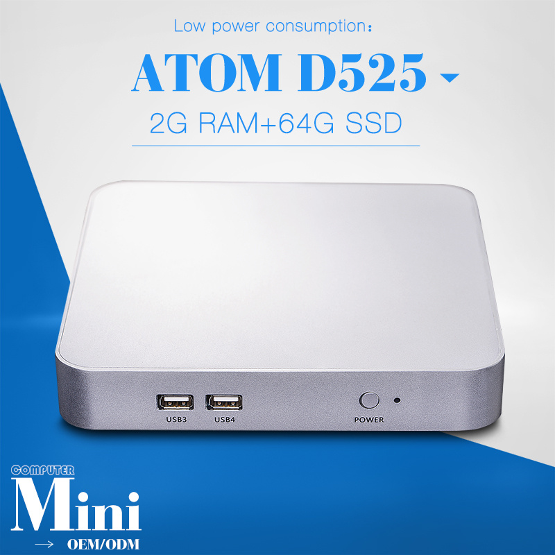 Best Quality Slim Pc FOR X26-d525l D525 1.8GHZ Dual Core Thin Client Computer Station 2gb Ram 64gb SSD(China (Mainland))