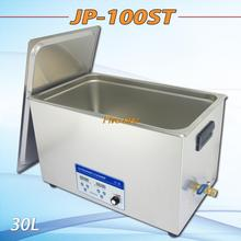 free shipping 110V/220V JP-100ST 200-600W Ultrasonic Cleaner 30L industrial   Equipment Stainless Steel Cleaning Machine(China (Mainland))