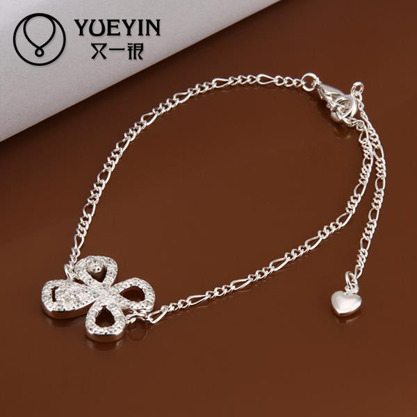 A010 Unique Nice Sexy New Design Large Stock Delicate Handmade Cheap Silver Plated Anklet Bulk Sale(China (Mainland))