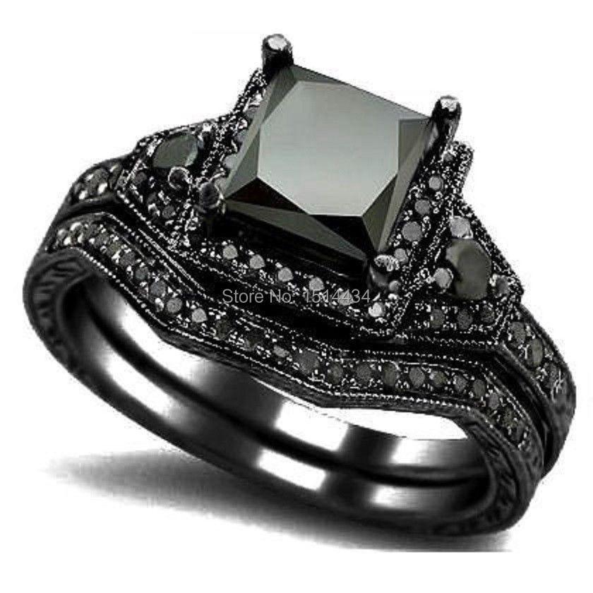 buy size 5 11 black rhodium princess cut. Black Bedroom Furniture Sets. Home Design Ideas