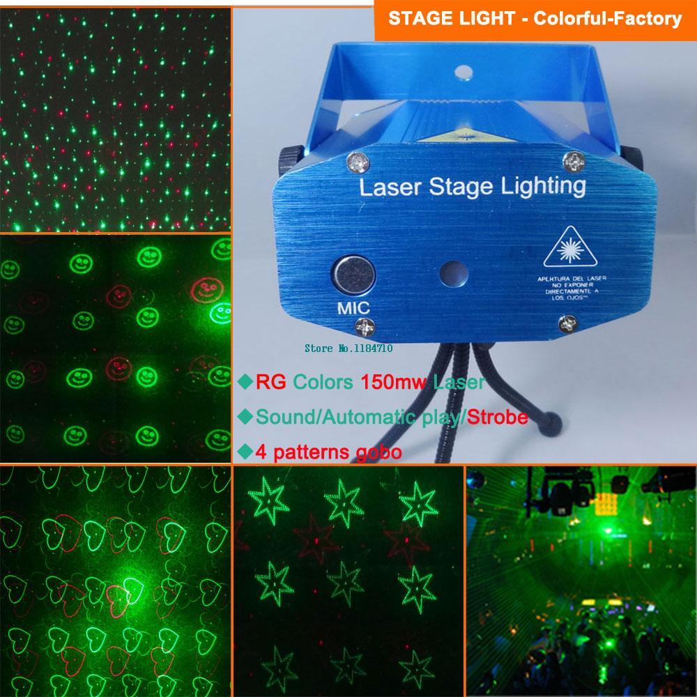 Mini red Green Laser Projector Holographic 4 pattrens lighting Light dance Disco bar Party DJ effect Stage Lights Show xl69 free(China (Mainland))
