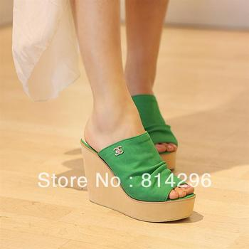 Fish mouth thick bottom female summer big yards of Roman style sandals for free shipping
