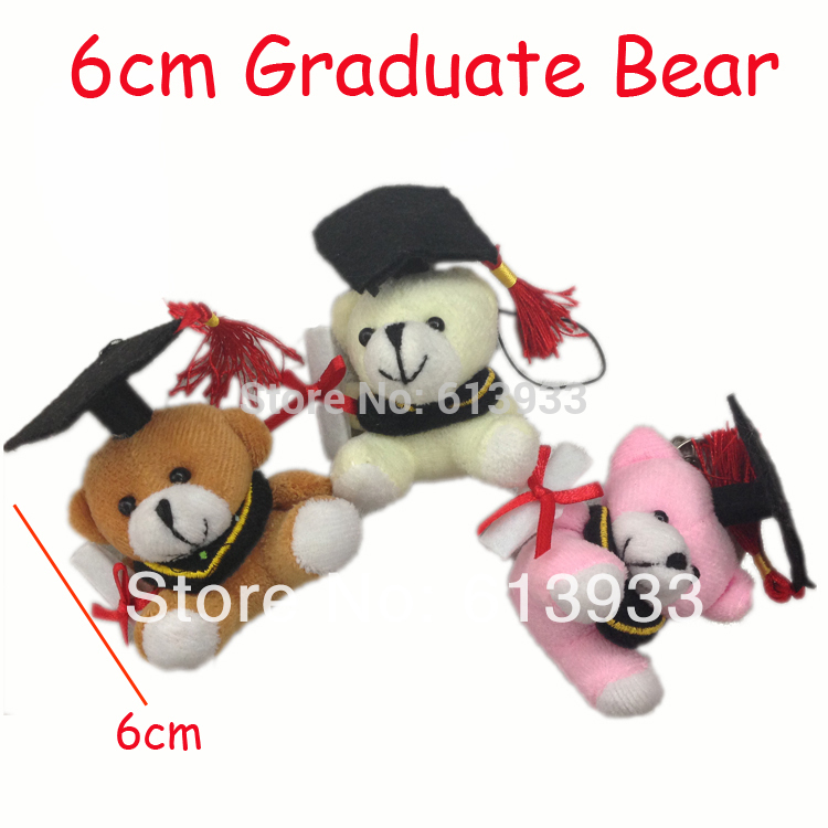 "24pcs/Lot Cartoon 6cm(2.4"") Teddy Bear Graduation Bear Plush Joint Doctor Bear Urso De Pelucia Oso Formatura Student Presentes(China (Mainland))"