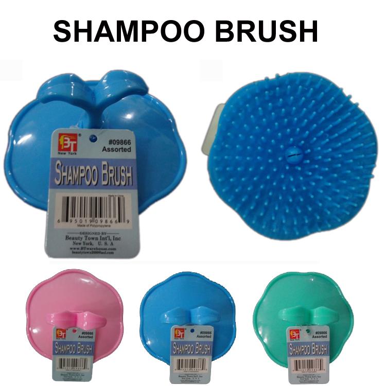 Shampoo brush bath massage shampoo brush shamois comb shampoo brush chromophous(China (Mainland))