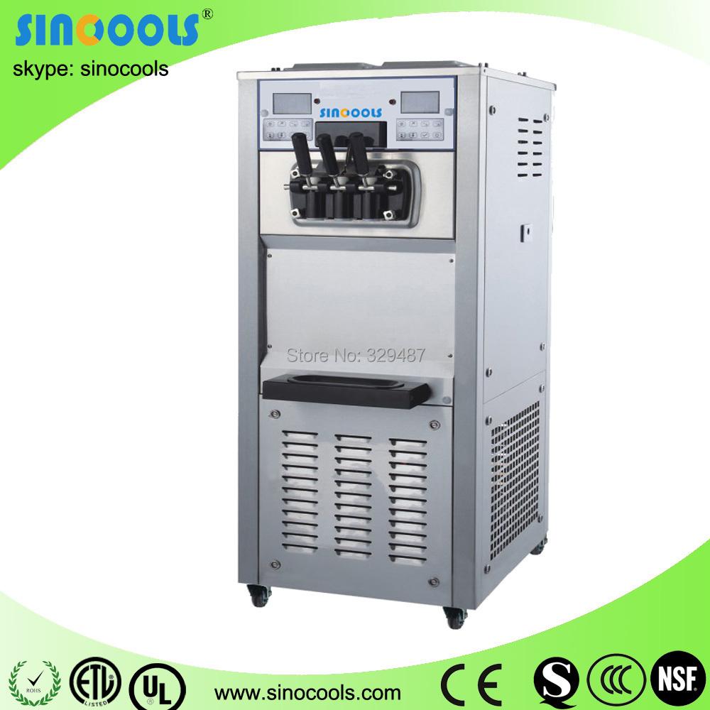 Ice cream machine 250A Sinocools countertop double hopper soft ice ...