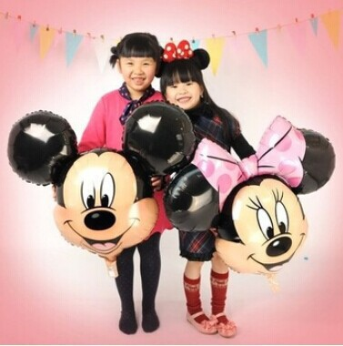 aluminum balloons Minnie Mickey head balloon decorations children's toys(China (Mainland))