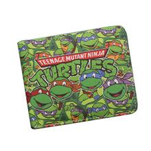 Buy Japanese Cartoon Wallet Short Leather TMNT Wallet Tortoise Movie Purse Men Bifold Green Wallet Teenager Boys Girls Game Bag for $3.99 in AliExpress store