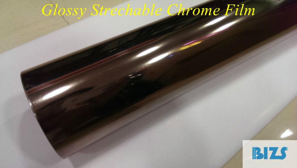 hot selling strechable glossy chrome film manufacturer air bubbles free(China (Mainland))