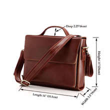 Free Shipping 100% Genuine Cow Leather Men's Laptop Handbag Shoulder Bag Briefcase #6033X(China (Mainland))