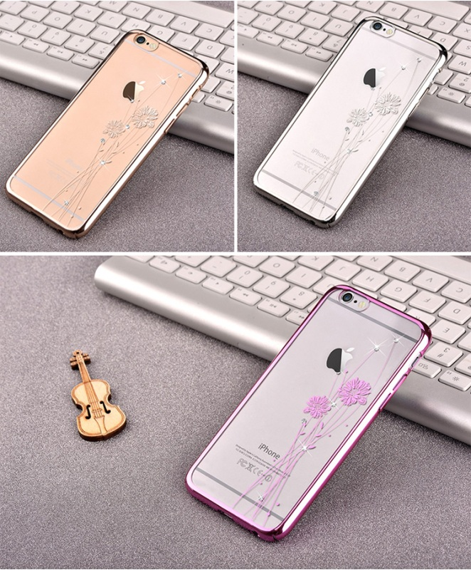 2015 Hot Selling COMMA Cornflower Diamond Plating Hard Case for iPhone 6 Plus / 6s Plus 5.5-inch