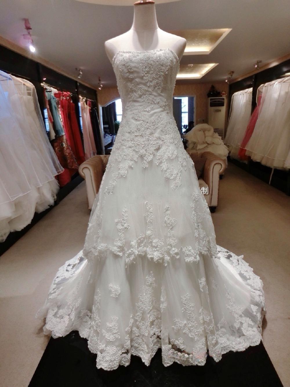 Wedding Dresses  France : Aliexpress buy france lace wedding dress long