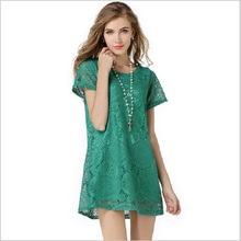 S-4XL 5 Colors Spring Summer style Pregnant clothing Maternity Dresses Casual knitted Lace Clothes For Pregnant Women