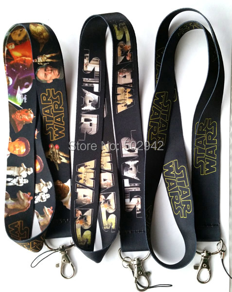 Wholesale STAR WARS Cartoon Lanyard for MP3/4 cell phone neck straps 60pcs/lot Free shipping(China (Mainland))
