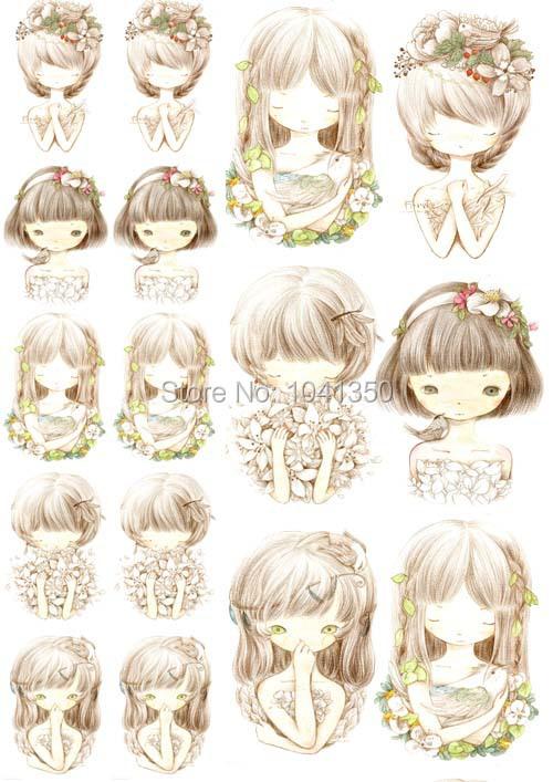Cute Girls A4 Diy Fabric T Shirt Decoration Heat Press