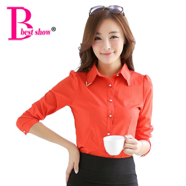 Женщины Формальное Блузы нового способа прибытия 2016 Весна корейский стиль с длинным ...