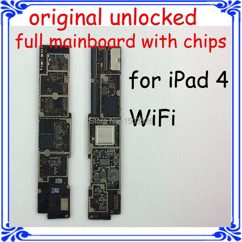 100% work tablet PC main board for ipad 4 wifi version 32GB original motherboard full function Logic board Circuits board(China (Mainland))